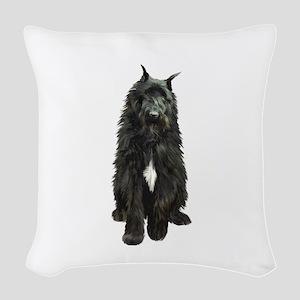 Bouvier (black) Woven Throw Pillow