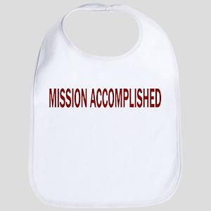 Mission Accomplished Banner Bib