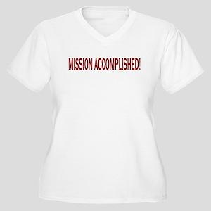 Mission Accomplished Banner Women's Plus Size V-Ne