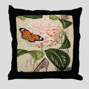 modern pairs fashion stilettos roses Throw Pillow