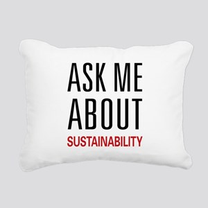 asksustain Rectangular Canvas Pillow