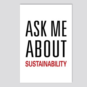 Ask Me About Sustainability Postcards (Package of