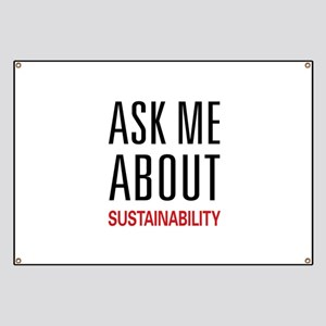 Ask Me About Sustainability Banner