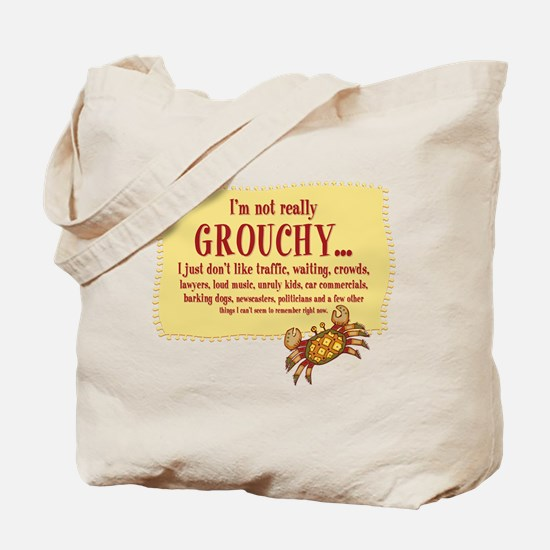 Grouchy Crab Tote Bag