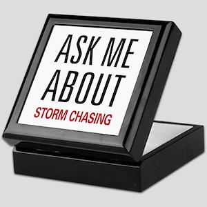 Ask Me About Storm Chasing Keepsake Box