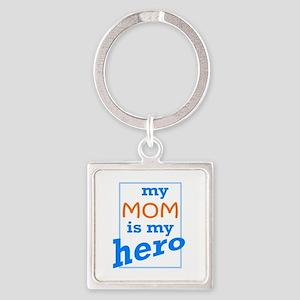 Mom Hero Square Keychain