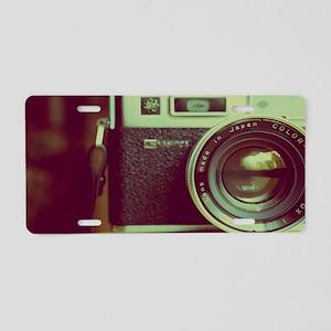 Vintage Camera Aluminum License Plate