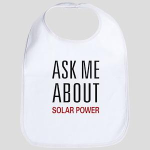 Ask Me About Solar Power Bib