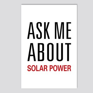 Ask Me About Solar Power Postcards (Package of 8)