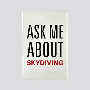 Ask Me Skydiving Rectangle Magnet