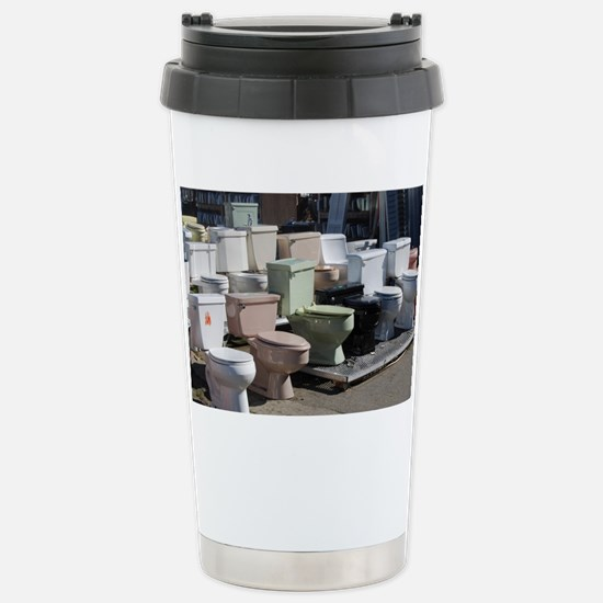 toilets at attention Stainless Steel Travel Mug