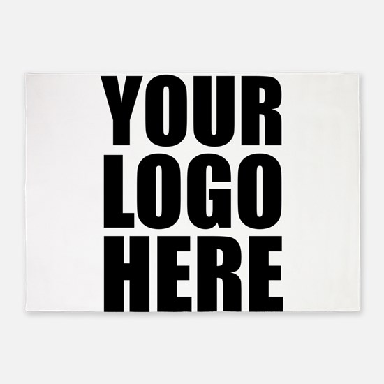 Your Logo Here Personalize It! 5'x7'Area Rug
