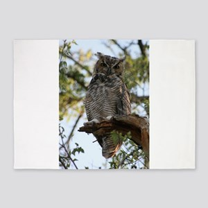 Great Horned Owl 5'x7'Area Rug