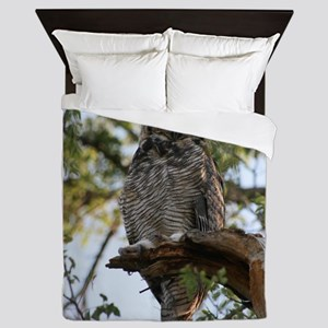 Great Horned Owl Queen Duvet