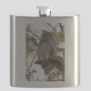 Great Horned Owl Flask