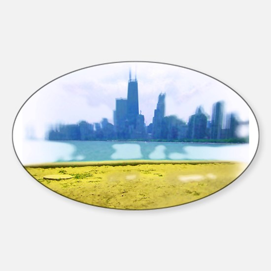 Chicago Skyline Air Brush Painted Decal