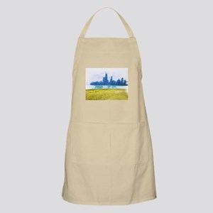 Chicago Skyline Air Brush Painted Apron