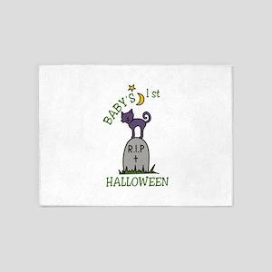 Babys 1st Halloween 5'x7'Area Rug