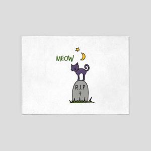 Halloween Cat 5'x7'Area Rug