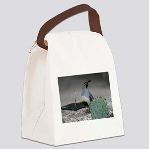 Gambels Quail in Sabino Canyon Canvas Lunch Bag