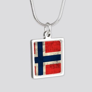 Flag of Norway Vintage Grunge Necklaces
