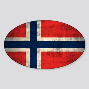 Flag of Norway Vintage Grunge Sticker