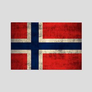 Flag of Norway Vintage Grunge Magnets