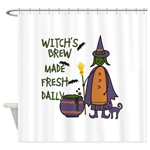 Flying Brooms Shower Curtains