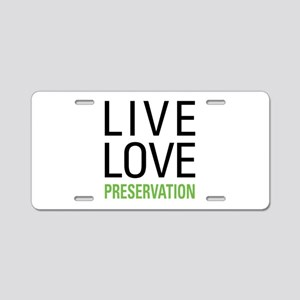 Preservation Aluminum License Plate