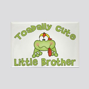 Toadally Cute Little Brother Rectangle Magnet