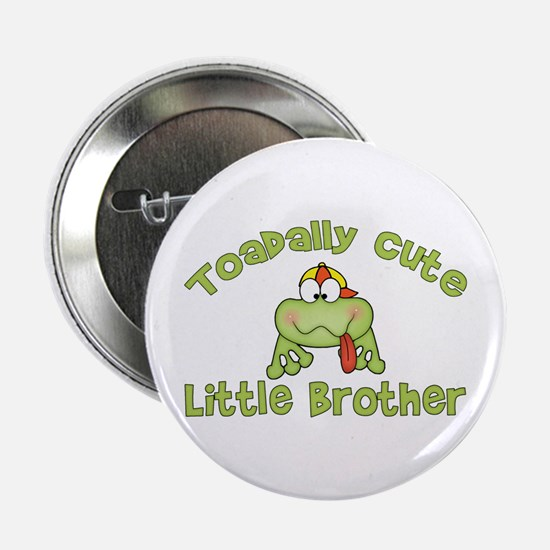 Toadally Cute Little Brother Button