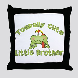 Toadally Cute Little Brother Throw Pillow