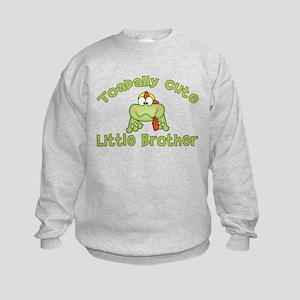 Toadally Cute Little Brother Kids Sweatshirt