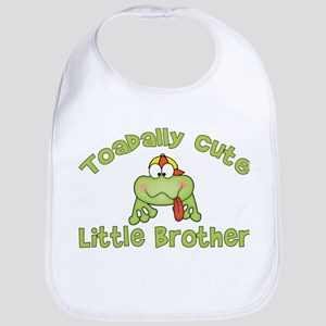 Toadally Cute Little Brother Bib