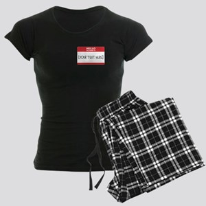 Name Tag Big Personalize It Pajamas