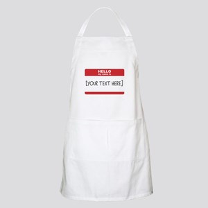 Name Tag Big Personalize It Apron