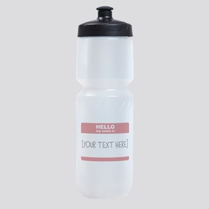 Name Tag Big Personalize It Sports Bottle
