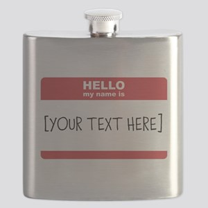 Name Tag Big Personalize It Flask
