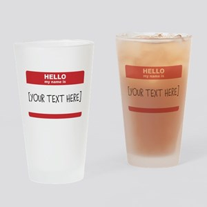 Name Tag Big Personalize It Drinking Glass