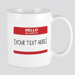 Name Tag Big Personalize It Mugs