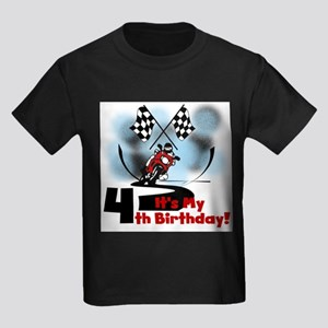 Motorcycle Racing 4th Birthday T-Shirt