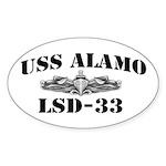 USS ALAMO Sticker (Oval)