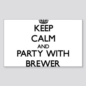 Keep calm and Party with Brewer Sticker