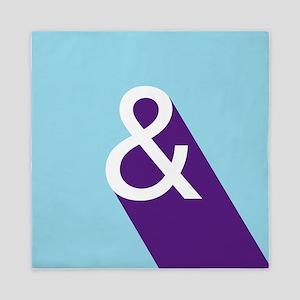Ampersand - Blue and Purple Queen Duvet