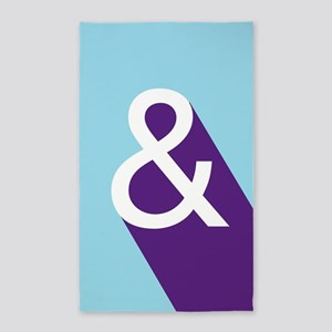 Ampersand - Blue and Purple 3'x5' Area Rug