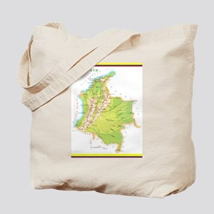 Colombia Green map Tote Bag