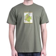 Colombia Green map Dark T-Shirt