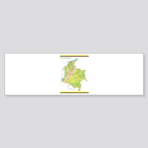 Colombia Green map Sticker (Bumper)