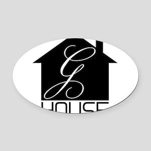 G-House12 Oval Car Magnet