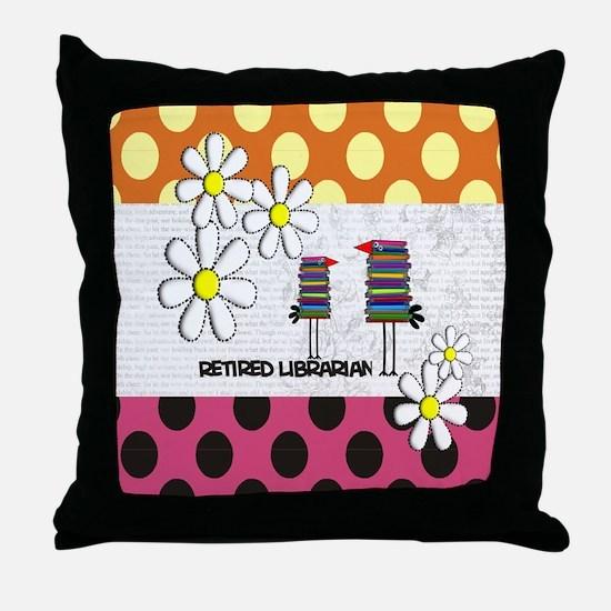 Retired librarian birds 2 Throw Pillow